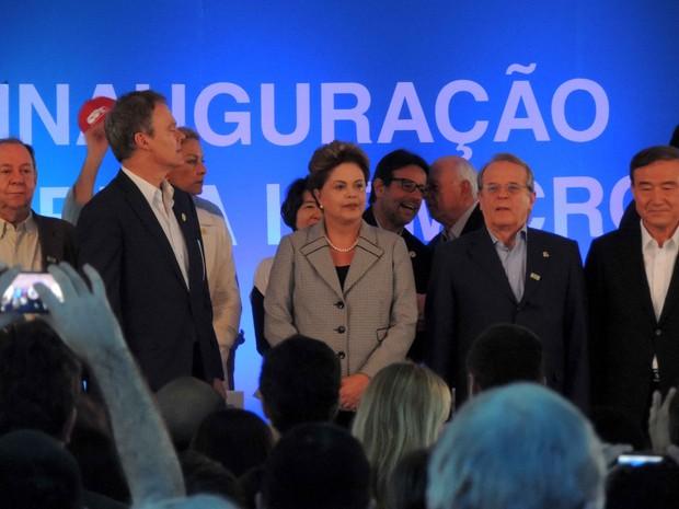 Dilma Rousseff participou de inauguração de fábrica em São Leopoldo (Foto: Gabriel Galli/G1)