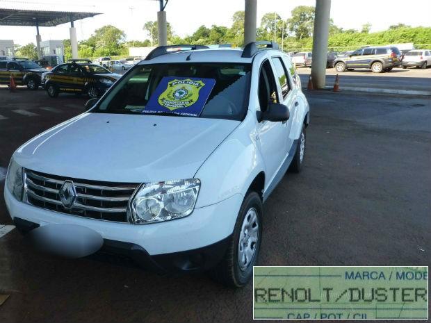 Carro da marca Renault virou Renoult (Foto: Divulgação/Polícia Federal)