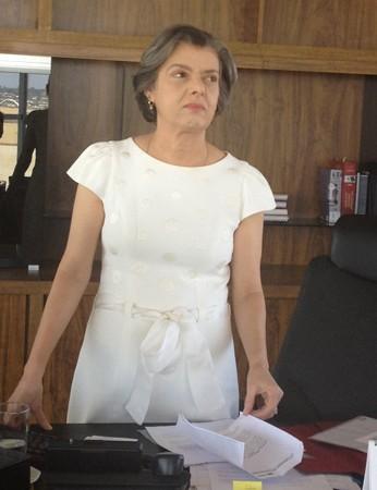 A presidente do TSE, ministra Cármen Lúcia, em seu gabinete no tribunal (Foto: Mariana Oliveira / G1)