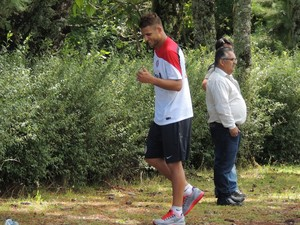 Rafael Moura centroavante Inter (Foto: Tomás Hammes / GLOBOESPORTE.COM)