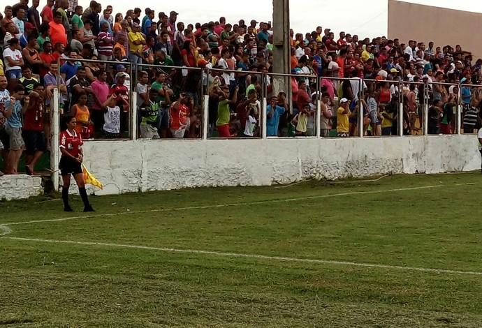 Torcida do Onça lotou as arquibancadas do Leandrão na tarde deste sábado (Foto: Leonilson Mota / Divulgação)