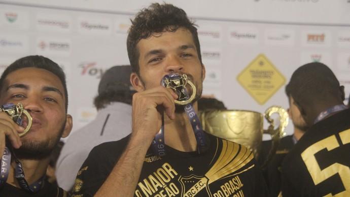 Márcio Passos volante do ABC campeão (Foto: Fabiano de Oliveira)