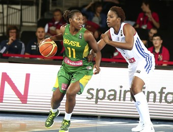 brasil x frança basquete feminino mundial (Foto: Divulgação/FIBA)