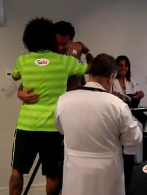 Fred e Marcelo na Graja Comary seleção (Foto: Reprodução / SporTV)