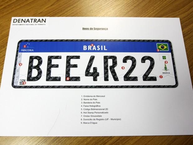 Placa do Mercosul não tem mais prazo definido para ser adotada no Brasil  (Foto  c22d8f0c1dcc2