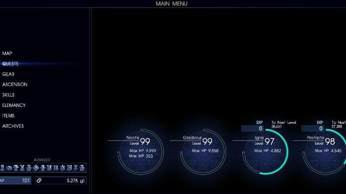 Final Fantasy XV: termine a campanha e evolua o nível do time (Foto: Reprodução/Thomas Schulze)