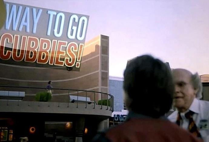 """Cena do filme """"De Volta para o Futuro II"""" mostra o Chicago Cubs campeão (Foto: Reprodução/Instagram)"""