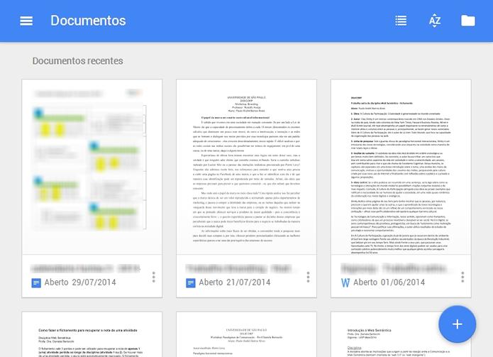 Google Docs ganhou Material Design e páginas separadas também para Slides e Sheets (Foto: Reprodução/Paulo Alves) (Foto: Google Docs ganhou Material Design e páginas separadas também para Slides e Sheets (Foto: Reprodução/Paulo Alves))