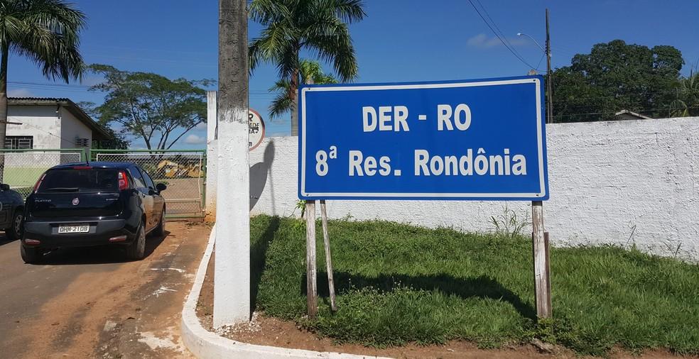 DER de Ji-Paraná, RO (Foto: Marco Bernardi/G1)