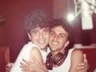 Do fundo do baú: Lulu Santos posta foto abraçado a Caetano Veloso