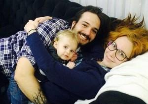 Família reunida no frio de Curitiba: Marina, Matheus e Arthur (Foto: Arquivo pessoal)
