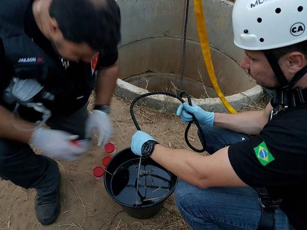 IPC suspeita que reação em água está reduzindo oxigênio no poço (Foto: Robson Félix/IPC)