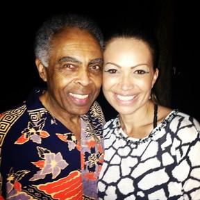 Gilberto Gil e Solange Almeida em festa em Salvador, na Bahia (Foto: Instagram/ Reprodução)
