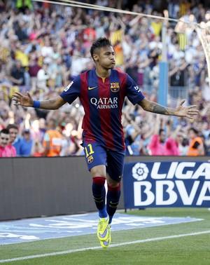 Neymar gol Barcelona x Real Sociedad (Foto: Reuters)