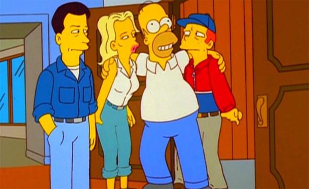 Alec Baldwin, Kim Basinger e Ron Howard em episódio de 'Simpsons' (Foto: Divulgação)