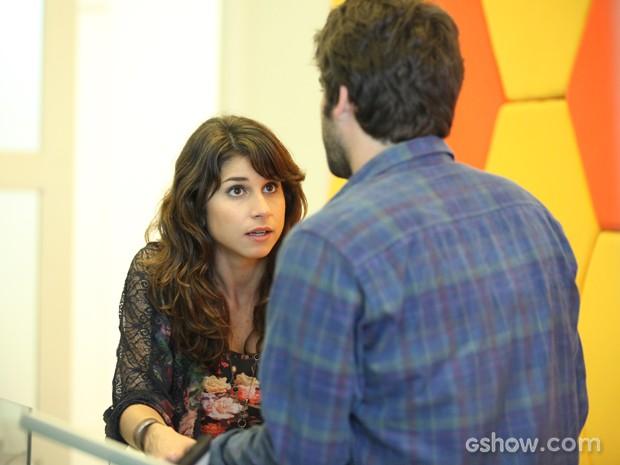 Manu e Davi discutem após o Marra Ideia (Foto: Camila Camacho/TV Globo)