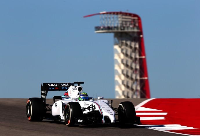 Felipe Massa marcou o 5º tempo e superou o companheiro de Williams, Valtteri Bottas (Foto: Getty Images)