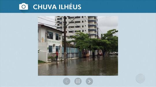 Fortes chuvas causam alagamentos, derrubam árvores e antena na Bahia