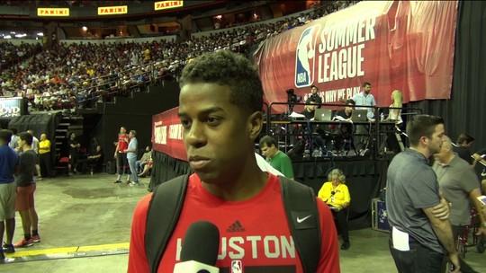 """Georginho, sobre chance no Houston Rockets: """"Tenho que ser intenso"""""""