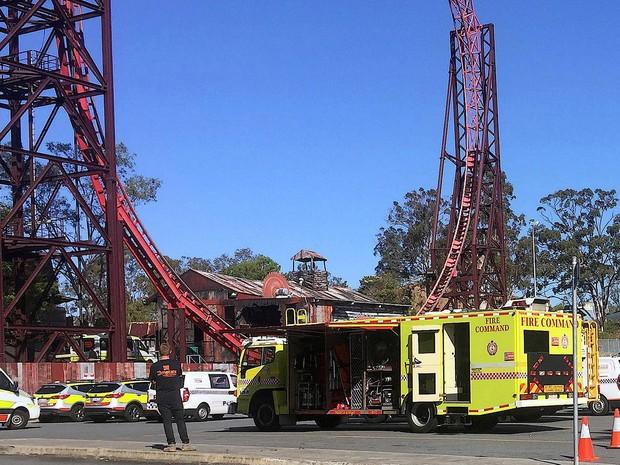 Acidente em atração aquática do parque Dreamworld deixou mortos em Coomera, no leste da Austrália (Foto: Scott Bailey/via Reuters )