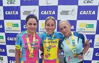 Paraciclista de Santos vence etapa da Copa Brasil e fica próxima do título