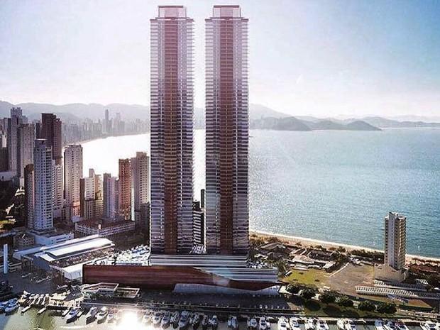Empreendimento foi planejado para ter 75 andares (Foto: Pasqualotto Construtora/Divulgação)