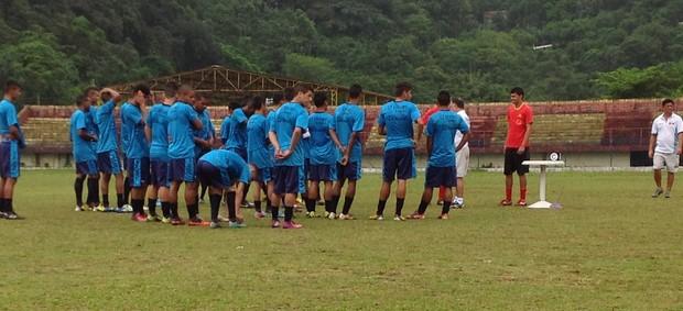 Enxuga Rato faz treino em Santos (Foto: Divulgação)