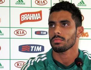 Vilson na apresentação no Palmeiras (Foto: Gustavo Serbonchini)