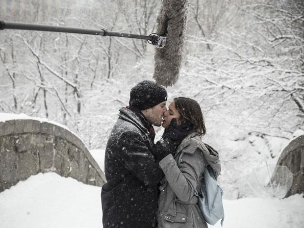 Bruna e Maurício gravaram cenas quentes em Nova York (Foto: Raphael Dias/Gshow)