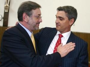 Procurador-geral de Justiça, Márcio Fernando Elias Rosa, e o promotor de Limeira Luiz Bevilacqua (Foto: Divulgação/Ministério Público)