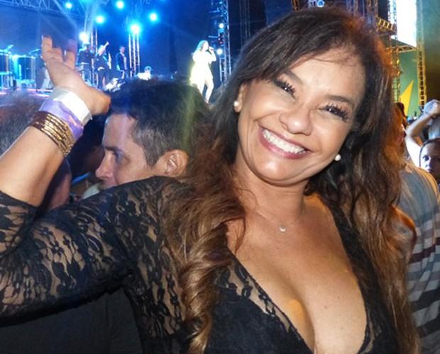 Solange Couto conta que está bem (Foto: Gshow)