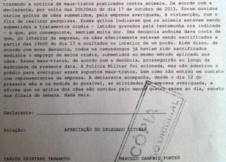 boletim_beagle_ativista (Foto: Letícia Macedo/G1)