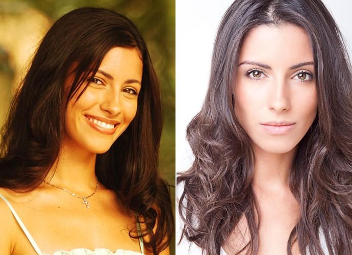 À esquerda, Marina Rigueira na pele da personagem Dilene, de 'Malhação', e, à direita, em momento atual (Foto: João Miguel Júnior /  TV Globo / Arquivo pessoal)