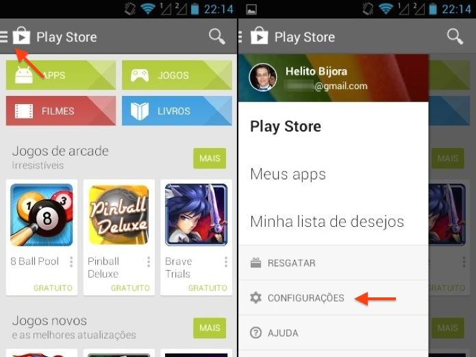 Abra o aplicativo do Google Play (Foto: Reprodução/Helito Bijora)