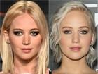 Jennifer Lawrence muda o visual e platina ainda mais os cabelos