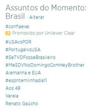 renato gaúcho no trending topics após gol de dempsey