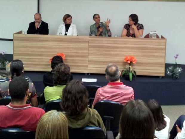 Marina Silva em palestra na Unicamp em Campinas (Foto: Marcello Carvalho/G1)