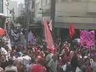 Grupos protestam contra governos federal e estadual em Campinas