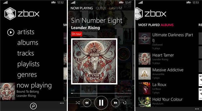 ZBox é um player para Windows Phone com bom desempenho e interface bonita (Foto: Divulgação/Windows Phone Store)