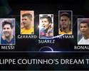 Antes de decisão, Coutinho escala time dos sonhos com MSN, CR7 e Gerrard