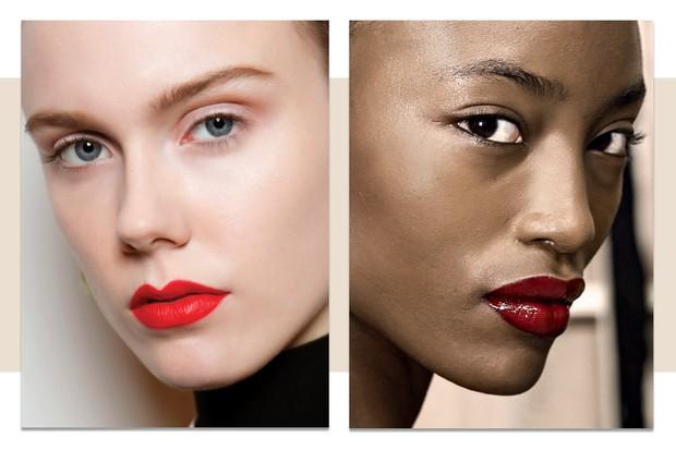 À esquerda, beleza de Proenza Schouler, ao lado, beleza de Sibling (Foto:  Imaxtree, Condé Nast Digital Archive, Thinkstock e Divulgação)