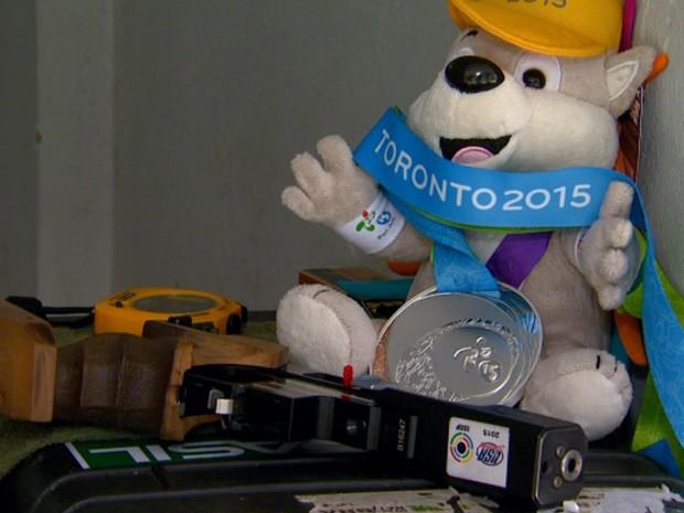 Tenente Coronel de Campinas é medalha de prata nos Jogos Pan-Americanos (Foto: Reprodução/ EPTV)