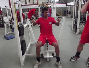 Maranhão realizou o primeiro treino na manhã desta segunda - feira, 14. (Foto: Patrícia Belo/ Globoesporte.com)