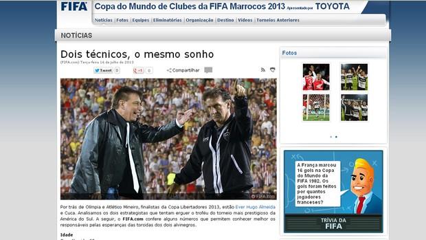 cuca atlético-mg site fifa libertadores (Foto: Site Oficial FIFA)