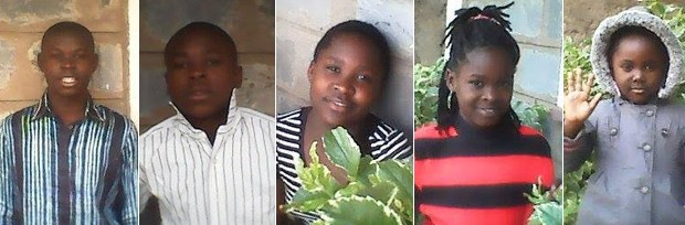 Os cinco filhos de Omana que conseguiram fugir do Congo não veem o pai desde 2013 (Foto: Arquivo pessoal/Omana Ngandu)