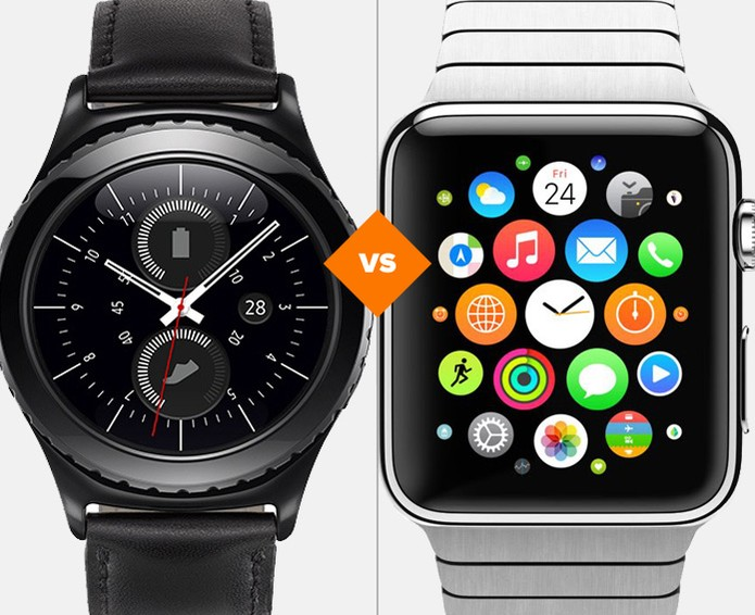samsung gear s2 vs apple watch  comparativo de rel u00f3gios