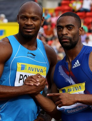 Atletismo Tyson Gay e Asafa Powell (Foto: Getty Images)