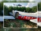 Polícia apreende avião em canavial com produtos contrabandeados