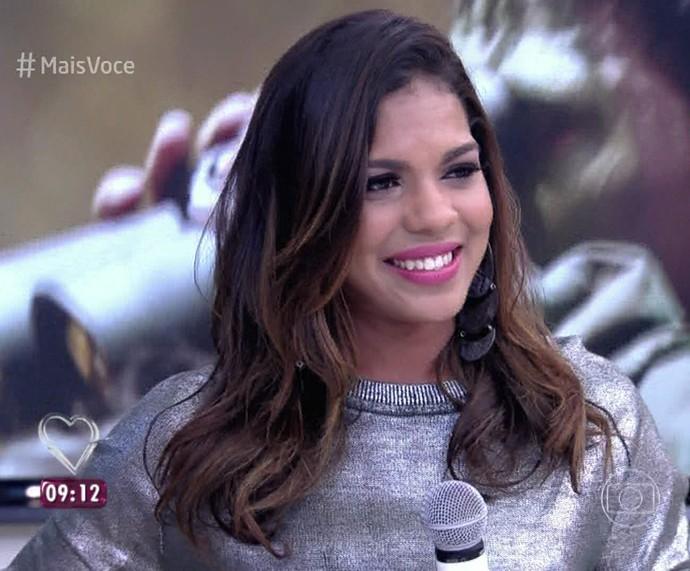 Tays Reis no 'Mais Você' (Foto: TV Globo)