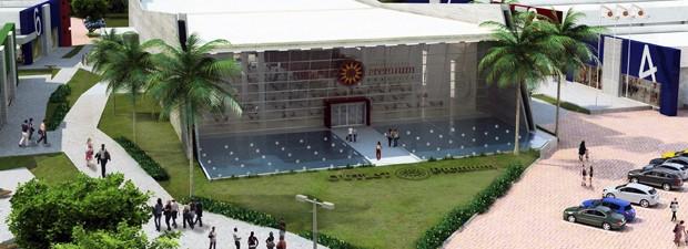 Projeção de como será o Outlet Premium Brasília, que será inaugurado nesta quinta (19) em Alexânia (GO) (Foto: Reprodução / Divulgação)
